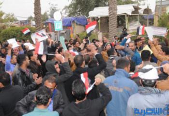 منتسبو معمل طابوق الشطرة يتظاهرون احتجاجا على نقلهم الى محافظات مجاورة