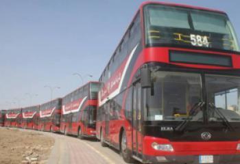 الحافلات ذات الطابقين تدخل الخدمة لاول مرة في الناصرية