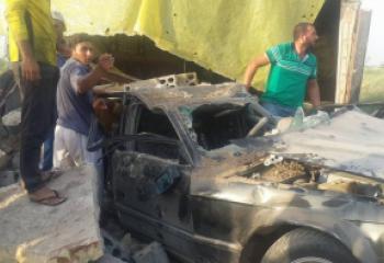 بالصور :حادث سير في موكب زفاف يودي بحياة شخص ويصيب العريسين بجراح