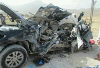 مصرع واصابة 15 شخصا في حادث مروري مروع غربي ذي قار