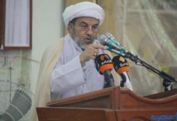 اية الله الشيخ الناصري ينعى الشيخ احمد ظاهر الشويلي
