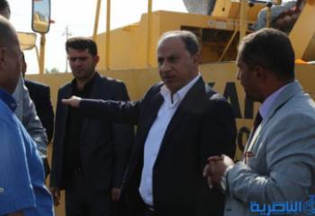 الناصري: المباشرة باعمال تبليط تقاطع سوق الشيوخ بالجهود الذاتية