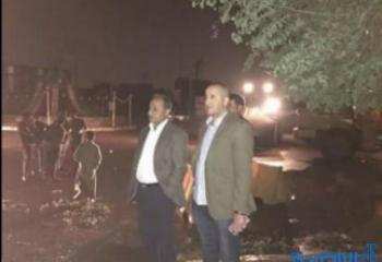 """الناصري يعلن """"الاستنفار الخدمي"""" بعد منخفض مداري هدم بيوتا واقتلع اشجارا واعمدة كهرباء"""
