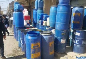 انعدام التخصيص المالي يحول دون اتلاف براميل ملوثة كيميائيا في الناصرية