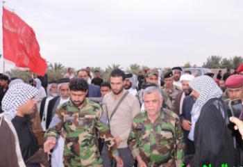 هادي العامري في الناصرية لعزاء ذوي شهداء معركة جرف الصخر