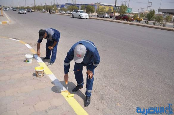 """""""مدينتي بيتي """" حملة تطوعية للدفاع المدني في ذي قار لتنظيف الشوارع"""