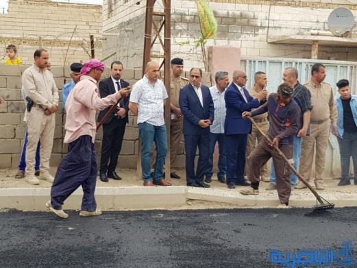 الناصري:انجاز المشاريع الخدمية في السكك والثورة وحي الامير خلال 45 يوما