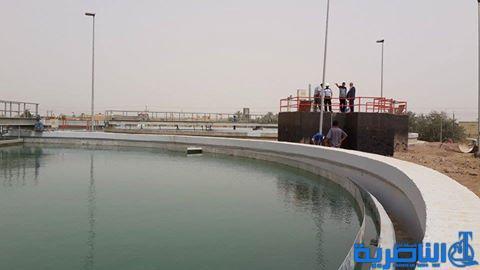 ماء ذي قار تستانف ضخ المياه في مشروع الناصرية بعد عودة التيار الكهربائي