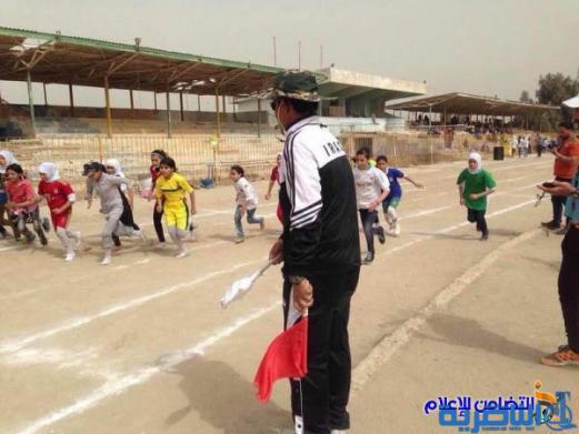 مدرسة التضامن الاولى للايتام :: تحصدالمركز الاول لالعاب الساحة والميدان في ذي قار