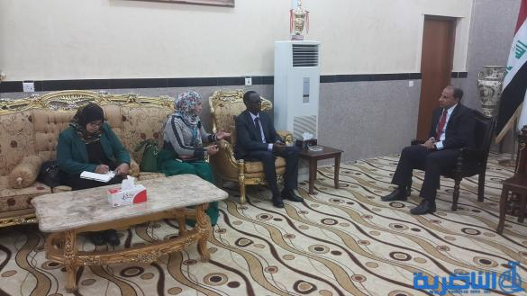 الناصري يناقش مع منظمة الغذاء العالمي خططها لعام ٢٠١٧  ودعم النازحين