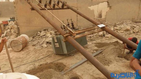 كهرباء ذي قار تنتهي من إصلاح الاضرار التي لحقت بالشبكة جراء العواصف - تقرير مصور-