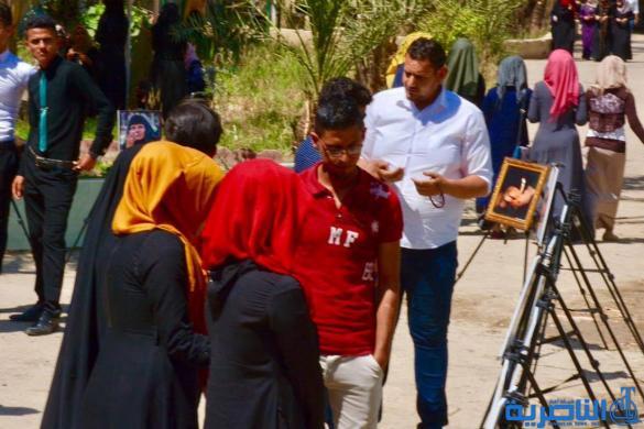 رجالات الناصرية وتقاليدها الاجتماعية في معرضين للرسم في جامعة ذي قار - تقرير مصور -