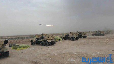 """بالصور.. المدفعية العراقية تقصف مواقع """"داعش"""" داخل سوريا"""