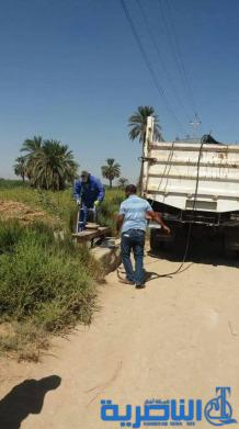 الموارد المائية في ذي قار تنجز صيانة 20 ناظما للسيطرة على توزيع المياه