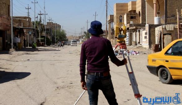 محافظ ذي قار يعلن المباشرة بمشاريع اكساء الشوارع في عدد من احياء الناصرية