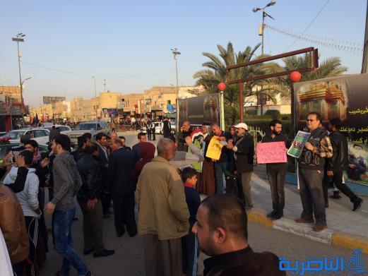 بالصور : متظاهرو الناصرية ينددون بالتدخل التركي ويستهجنون تصرفات البارزاني والنجيفي