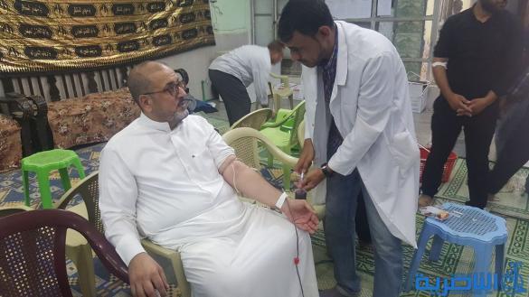 بالصور:جمعية التضامن الاسلامي تنظم حملة للتبرع بالدم في التاسع من المحرم