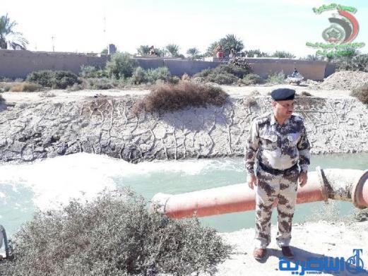 شرطة ذي قار تباشر بحملة واسعة لرفع التجاوزات عن الانهار