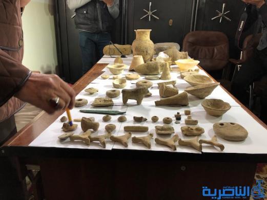 شرطة ذي قار تضبط 69 قطعة اثارية معدة للتهريب - تقرير مصور -
