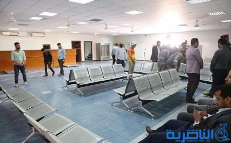 تجهيز مطار الناصرية بمعدات حديثة لفحص الحقائب وتفتيش المسافرين