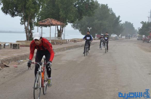 بالصور: انطلاق ماراثون الدراجات الهوائية في الجبايش