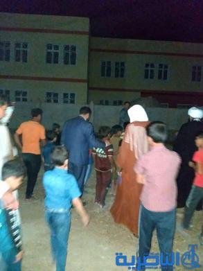 مواطنون في حي الفداء يعتصمون للمطالبة بافتتاح مدرسة منجزة البناء منذ سنوات