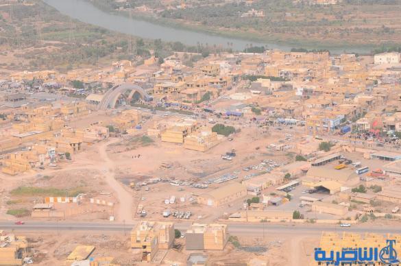 بعدسة شبكة اخبار الناصرية:صور جوية لجموع الزوار على درب الحسين