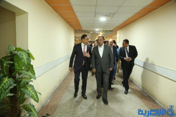 الناصري يتفقد مركز الناصرية للقلب ويعلن دعمه للمركز العراقي-الكوري لعلاج امراض الاطفال