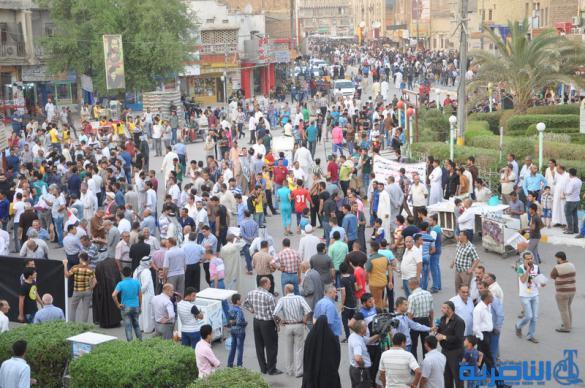 تظاهرات الناصرية تدعو ل