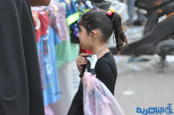 بالصور : الناصرية تتشح بالسواد في عزاء سيد الشهداء