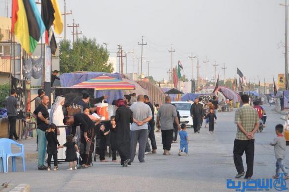 بالصور: وصول طلائع زوار محافظات الجنوبية وزائرين الاجانب الى محافظة ذي قار