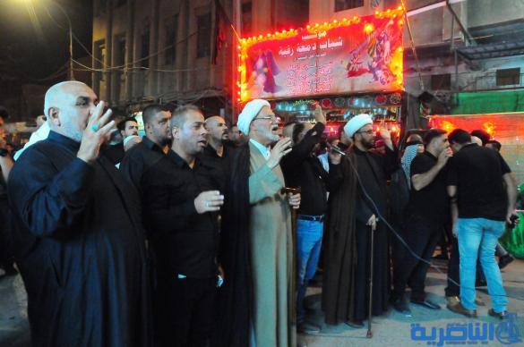 بالصور:المواكب الحسينية في الناصرية تحيي ذكرى ليلة التاسع من المحرم