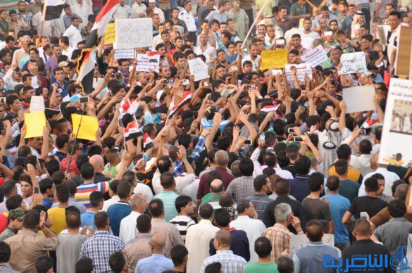 متظاهروا الناصرية : لا تفرحوا ايها الفاسدون لن نهاجر ونترك العراق - تقرير مصور -