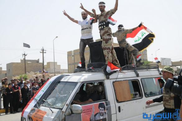 """سرايا السلام الصدرية تستعرض في شوارع الناصرية """" بالاستشهاديين """" والاسلحة الثقيلة - تقرير مصور -"""