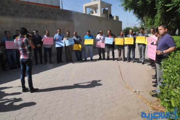 صحافيو ذي قار يتظاهرون للمطالبة بفرز أراضيهم - تقرير مصور -
