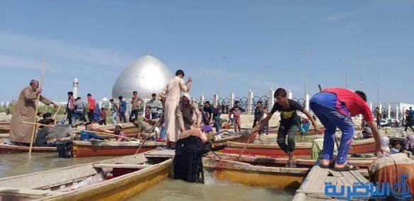 بالصور:اهوار الجبايش تستقبل مئات السائحين من ذي قار وبقية المحافظات بعيد النوروز