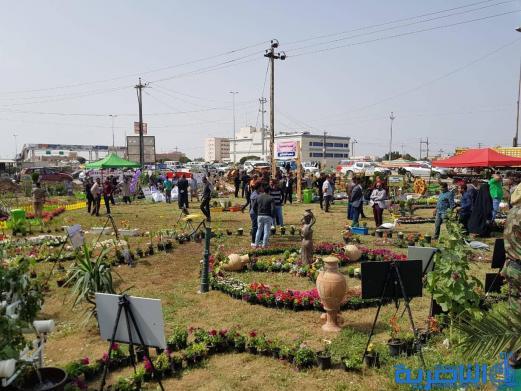 الناصري يفتتح معرض الزهور الخامس لبلديات ذي قار