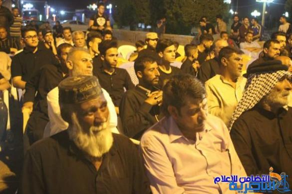رئيس جمعية التضامن الإسلامي يشارك في مراسيم رفع الراية الحسينية في الناصرية