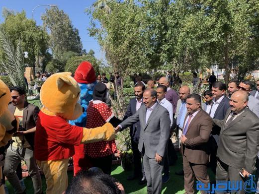 بالصور:محافظ ذي قار يفتتح معرض الزهور الخامس في متنزه الناصرية