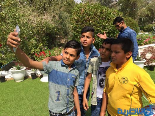 بالصور:متنزه الناصرية يستقبل العوائل بعيد الربيع