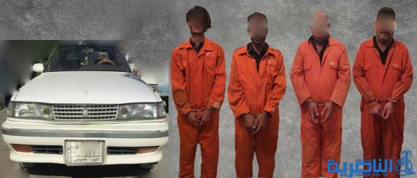ذي قار تعتقل اربعة اشخاص بتهمة المتاجرة وتعاطي المخدرات