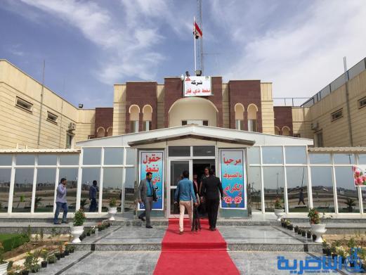 بالصور:محافظ ذي قار ووزير النفط يفتتحون مبنى شركة النفط ووضع حجر الاساس لمشروع مركز التدريب