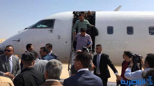 بالصور.. الرحلة رقم واحد تحط في مطار الناصرية الدولي