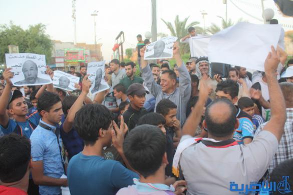 بالصور : متظاهرو الناصرية يطالبون بالاصلاحات وتعيين حملة الشهادات