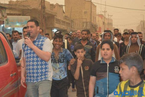 بالصور:تظاهرة في قلعة سكر احتجاجا على مشروع خصخة الكهرباء