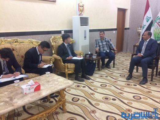 الناصري يستقبل الوفد الياباني الذي أعلن سعي شركات بلاده للعمل في حقول ذي قار النفطية