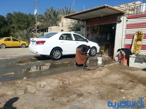 بيئة ذي قار تحذر من انتشار محلات غسل السيارات داخل المدن
