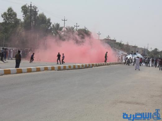 تقرير مصور عن تفريق تظاهرات الناصرية قرب مكتب مجلس النواب