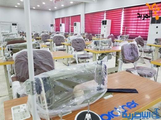 انجاز 90% من معمل الخياطة بمصنع منسوجات الناصرية