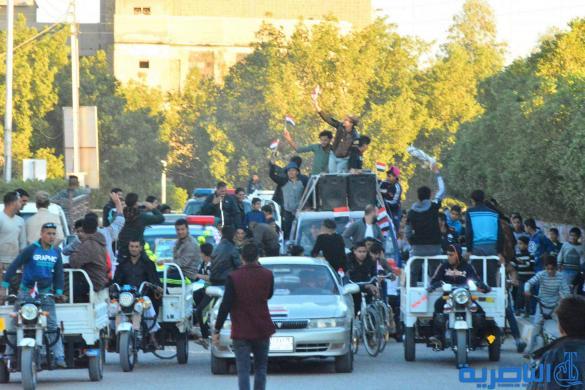 بالصور:اهالي قلعة سكر تخرج بمسيرات احتفاءا بتحرير ارض العراق